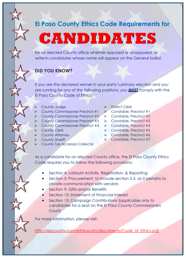 Candidates flyer