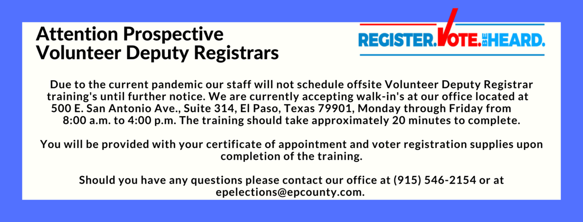 Attention volunteer deputy registrars! %281%29